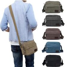 Mens Canvas Vintage School Satchel Messenger Shoulder Bags Crossbody Handbags