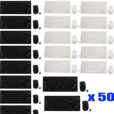 LOT 50 2.4G Optical Wireless Keyboard and Mouse USB Receiver Kit For PC Computer