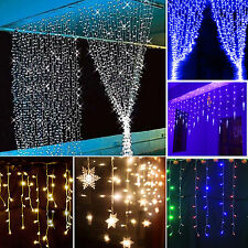 LED Warm White Light Curtain String Fairy Net Lights Christmas Wedding Party Lot