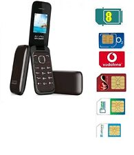 Big Button Easy to Use Senior FLIP Mobile Phone + Free Pay As You Go Sim Card UK