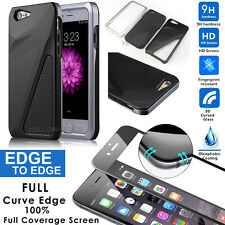 360° Full Hybrid 3D Tempered Glass + Bumper Hard Case Cover For iPhone 6 6s Plus