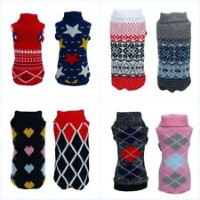 Pet Dog Warm Clothes Puppy Cost Shirt Winter Sweater Apparel Jacket Coat Costume