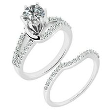 1 Carat G-H Diamond By Pass Solitaire Wedding Bridal Ring Band 14K White Gold