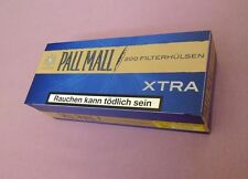 Make your own Pall Mall Blue King Size cigarette papers filter tubes, like rizla