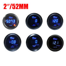 "Universal 52mm 2"" Digital LED Car Drift Race OIL PRESSURE/VOLTAGE/Boost GAUGE"
