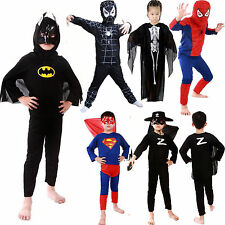 Halloween Kids Boys Superhero Fancy Dress Cosplay Costume Party Outfit Set 3-7Y