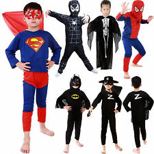 Toddler Kids Boys Superhero Fancy Dress Halloween Party Costume Outfits Clothes