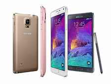 """Unlocked 5.7"""" Samsung Galaxy Note 4 4G LTE Android GSM Smartphone 32GB CAAL"""