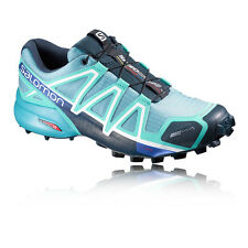 Salomon Speedcross 4 CS Womens Green Blue Water Resistant Running Shoes