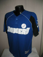MLB Los Angeles Dodgers Baseball Pull Over Jersey Top Mens Size  Majestic
