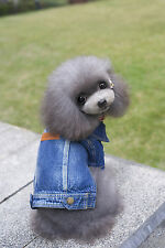 Pet Dog Coat Classic Denim Jacket Clothes Puppy Dog Winter Warm Clothes Apparel
