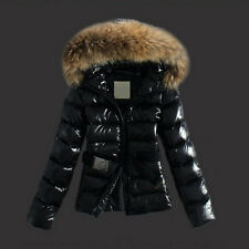 Womens Winter Outwear Ladies Warm Faux Fur Zip Up Parka Hooded Jacket Coat Tops