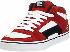 Etnies RVM Red White Black Mens Suede Mid Skate Trainers Shoes