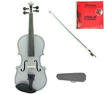 """New Student Silver Viola & Bow+Case+2 Sets Strings+Rosin 16""""15""""14""""13""""12""""11""""10"""""""