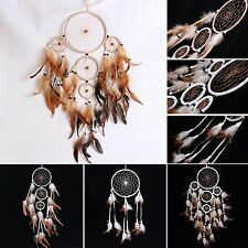 Handmade Dream Catcher with Feathers Car Room Hanging Net Decoration Craft Gift