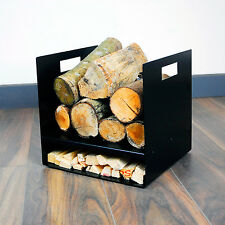 Modern Firewood Log Basket/Carrier for Woodstove Fireplace Wood Holder - UK Made