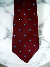 VINTAGE PURE 100% SILK TIE IN MAROON BY HATHAWAY BUFFUMS DEPT. STORE, EUC!
