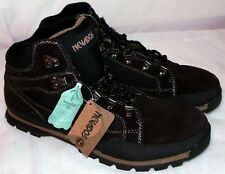 NEVADOS Mens LEATHER HIKING BOOTS MID BROWN   SUPER FAST SHIPPING!!!