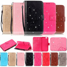 Hot -YPYB Rhinestone Leather Case Cover For Apple iphone 7 6 6S Plus 5S 5C 4S 4G
