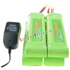 4 x 8.4V 3800mAh NiMH Rechargeable Battery + Charger