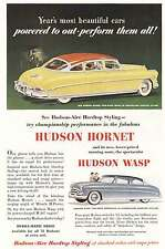 1952 Hudson Hornet, Hudson Wasp: Powered To Out Perform Print Ad (8472)