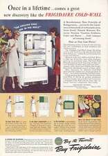 1940 Frigidaire Cold Wall Refrigerator: Once in a Life Print Ad (18888)