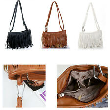 New Woman Celebrity Fringe Tassel Shoulder Messenger Bag Handbag Weekend Bag