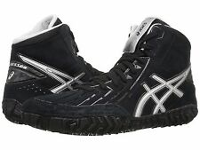 ASICS AGGRESSOR 2 BLACK SILVER 2016 MENS WRESTLING SHOES **FREE POST AUSTRALIA