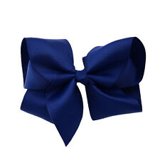 "1X 5.5"" Large Hair Bows Boutique Girls Baby Alligator Clip Grosgrain Ribbon Pk"