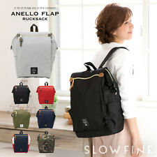 ANELLO Japan Flap Rucksack Tote Style Canvas Backpack Campus Rucksack School Bag