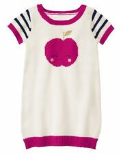 NWT Gymboree CHARM CLASS Toddler Girls Apple Short Sleeve Knit Sweater Dress 2T