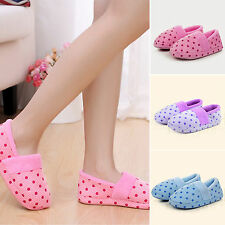 Womens Mens Dots Shoes Comfort Warm Cotton Antiskid Winter Indoor Home Slippers