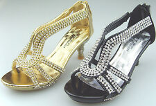 New Youth Kid's Girl's Rhinestones Low Heel Party Pageant Sandals Dress Shoes