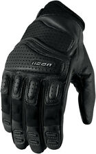 ICON Super Duty 2 Perforated Short Motorcycle Gloves (Black) Choose Size
