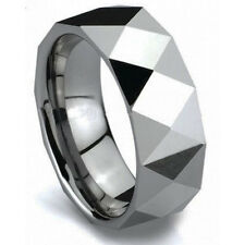 New Sale Durable Mens 8mm Tungsten Carbide Polished Wedding Band Ring Size 9-12
