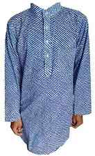 Men's Cotton Indian Kurta Shirt Plus Size Dabu Solid Loose Fit All Size Availab