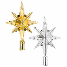 Star of Bethlehem Christmas Tree Topper Decoration Ornament (Gold or Silver)