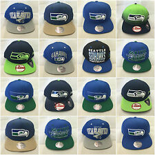 Mitchell & Ness New Era Seattle Seahawks Snapbacks Blue Green Strapback