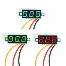 NEW DC 0-100V LED 3-Digital Diaplay Voltage Voltmeter Panel Meter with 3 Wires