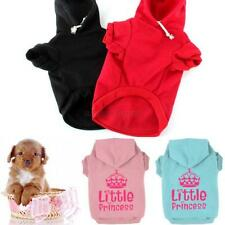 Pet Dog Hoodie Sweater Clothes Crown Pattern Puppy Cat Coat For Small &Large Dog