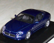 MASERATI COUPE in BLUE 1;43 DIECAST MODEL CAR in DISPLAY CASE NEW BOYS TOYS DADS