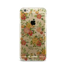 Fall Flowers Floral TPU Rubber Silicone Clear Case Cover Back for Apple iPhone