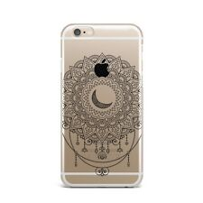 Crescent Moon Mandala Flower Silicone Rubber Gel Case For IPhone 4S 5S 6S 7+