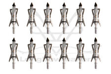12/50/100X Archery Hunter Silver Broadheads 2 Blade 100 Grain Chisel Arrows Tip