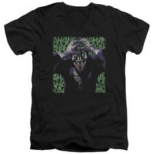 Batman DC Comics Superhero Joker Insanity Adult V-Neck T-Shirt Tee