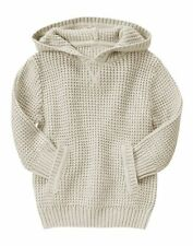 NWT Gymboree Boys S'MORE STYLE Waffle Knit Hooded Pullover Sweater Khaki 18-24 M