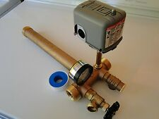 1 x 11 Pressure Tank Tee Kit BRASS NO LEAD water well SQUARE D SWITCH options