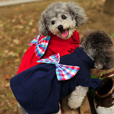 XS/S/M/L Fashion Dog Clothes Pet Coat Puppy Apparel Bow Knot Teddy Dog Schnauzer