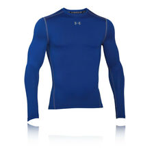 Under Armour Coldgear Armour Mens Blue Compression Long Sleeve Running Top