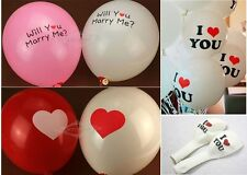 "12"" Xmas Wedding Party Decor Love Heart Helium OR Air Quality Latex Balloons"